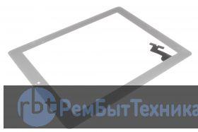 Сенсор Apple iPad 2 A1395 A1396 A1397 с кнопкой HOME и 3M скотчем (белый)